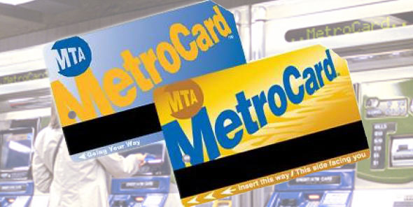 Blue and yellow metrocard