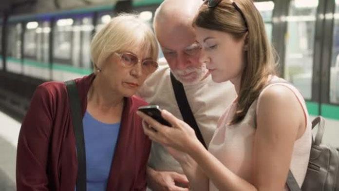 Seniors on the subway