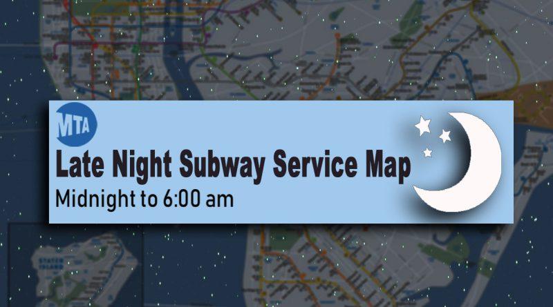 late night subway service map nyc